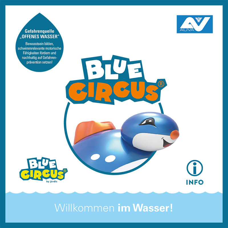Schwimmsicherheit Blue Circus Folder
