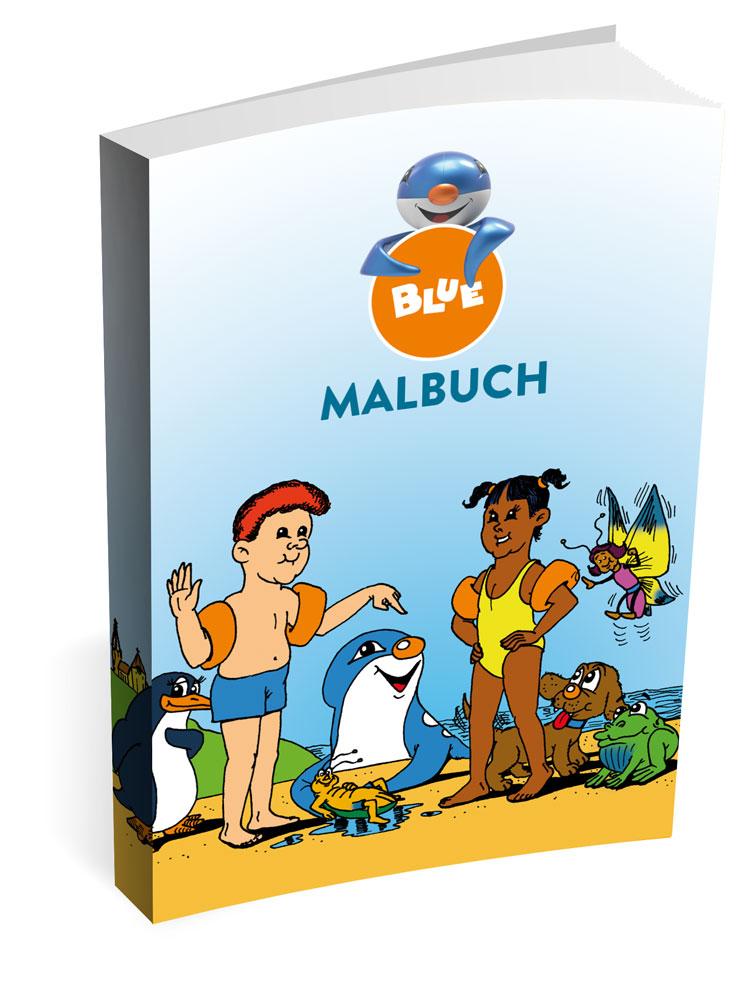Malbuch von Blue Circus